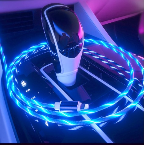 Plastic LED Light USB Charging Cable for iPhone