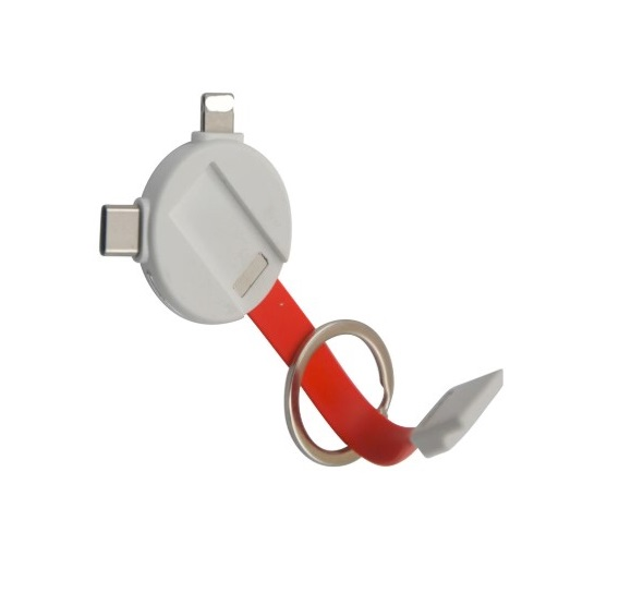 Multi Functional Cartoon Shaped Micro USB Cable with Keychain