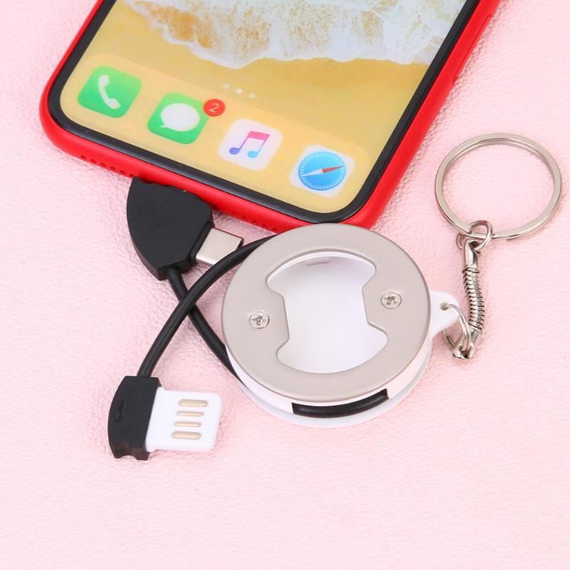 Portable Bottle Opener 3 in 1 Charging Cable for Apple and Type-C