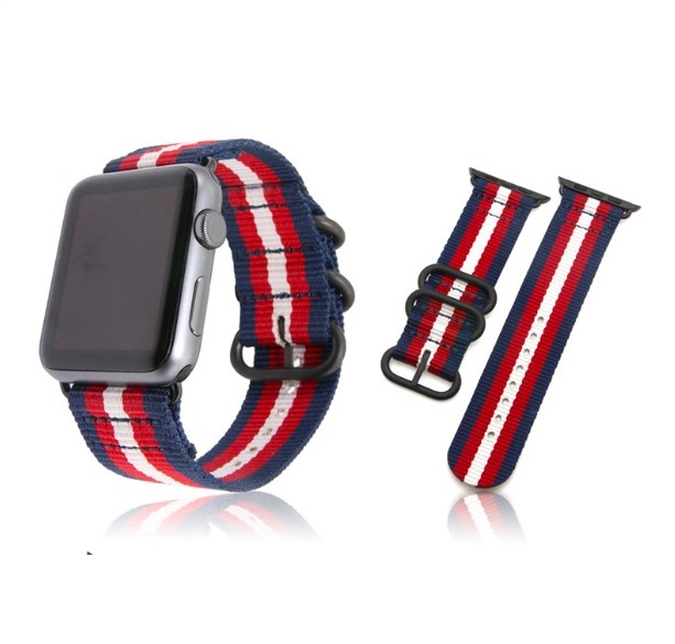Casual Nylon Army Sports Apple Watch Strap 38 and 40 mm