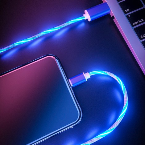 Plastic LED Light USB Android Charging Cable