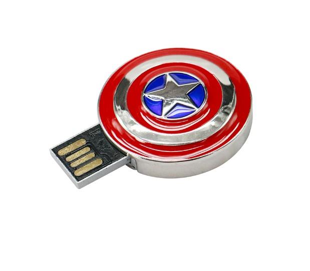 Metal Iron Man Round Shaped USB Flash Drive