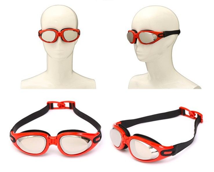 Colorful Electroplating Hd Waterproof and Anti-Fog Swimming Goggles