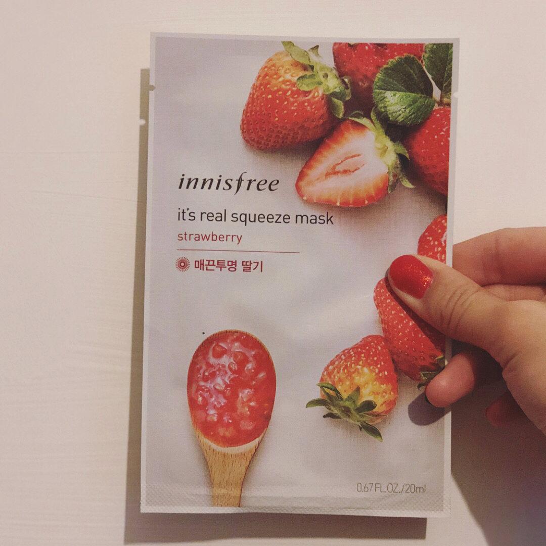 Innisfree Its Real Strawberry Mask 5 Pcs