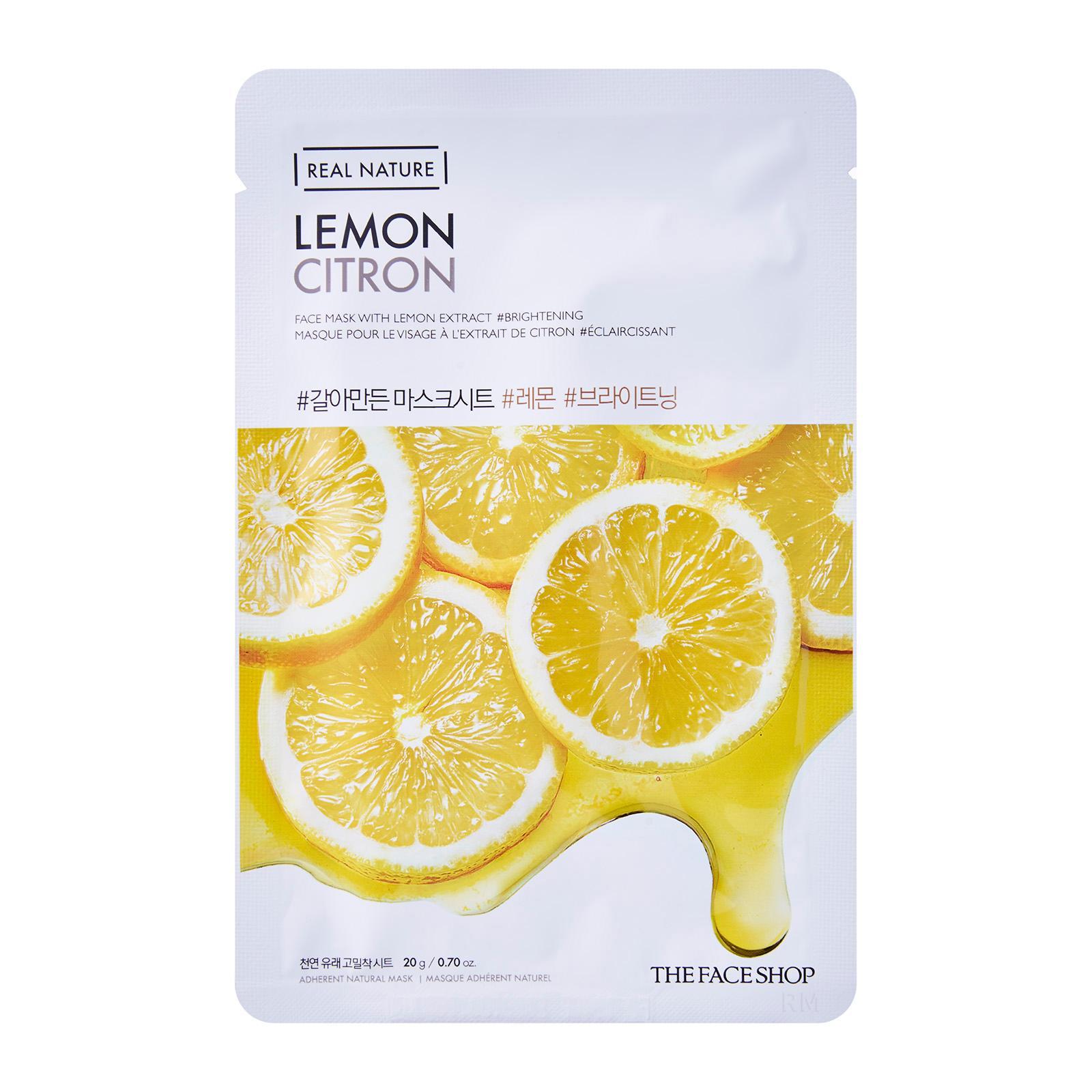 The Face Shop - Real Nature Lemon Face Mask 04 Sheets
