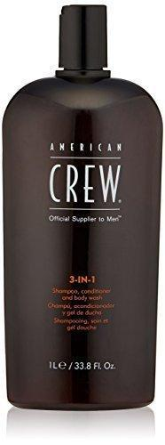 American Crew 3-in-1 Shampoo Conditioner and Body Wash 1000ml