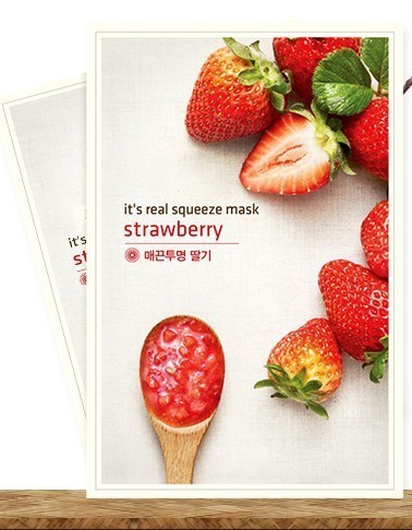 Innisfree Its Real Strawberry Mask 3 Pcs