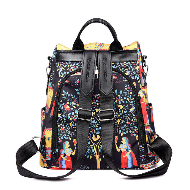 SJstudio Oxford Culture Classic Print Back-pack For Women