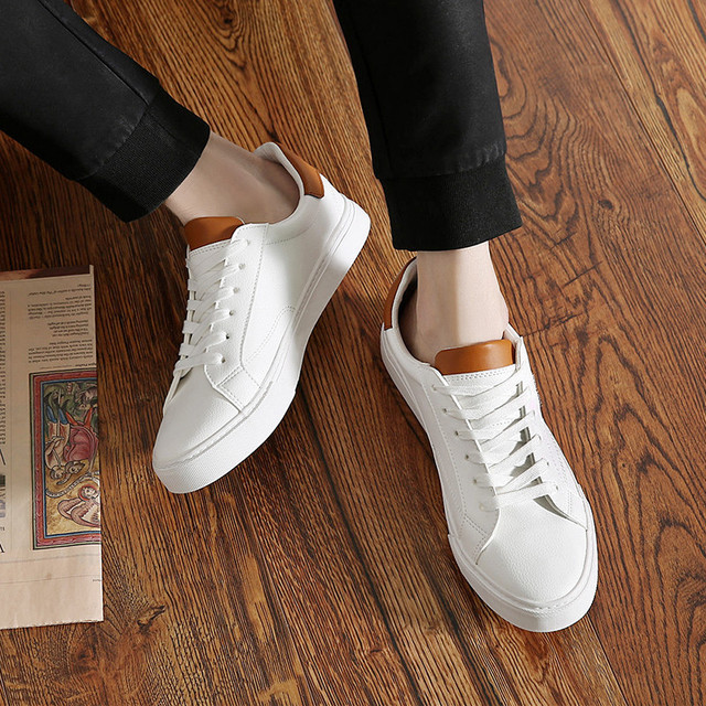 SJstudio Leather Classic All-match Design Comfortable Canvas Shoes For Men