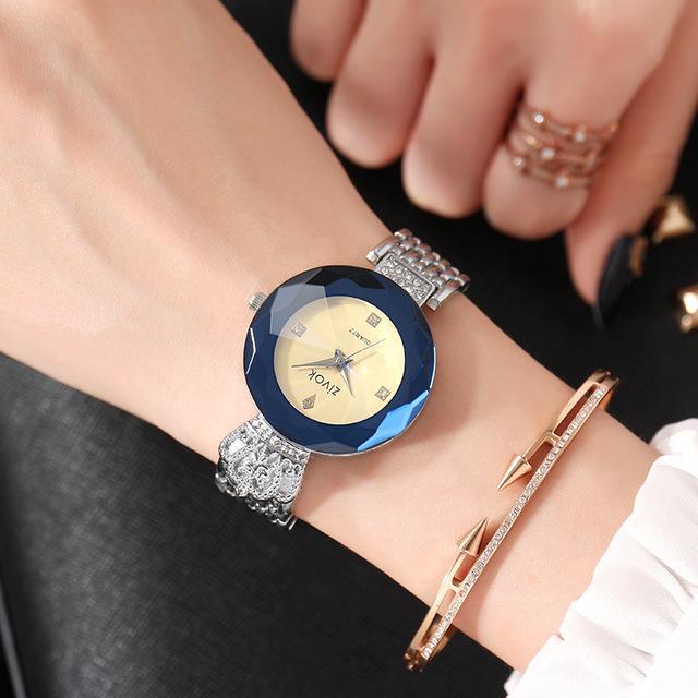 SJstudio Alloy Belt Royal Crown Design Luxury Watch For Women