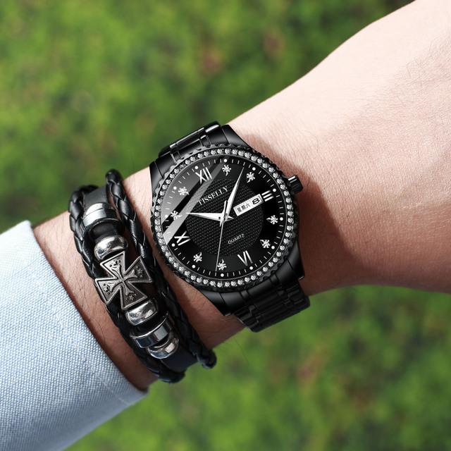 SJstudio Diamond Design Luxury Dressy Watch For Men