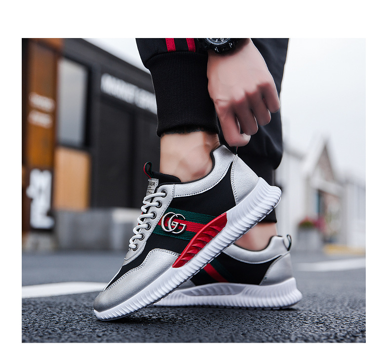 SJstudio PU Soft Upper Leather Classic Running Shoes For Men
