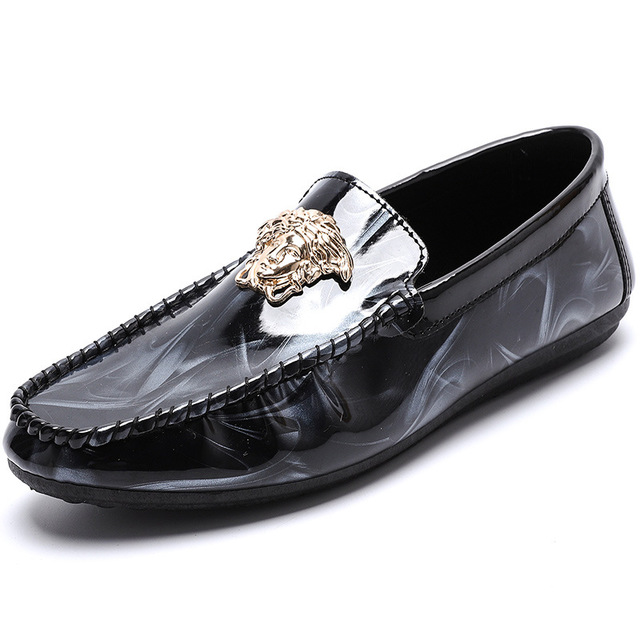 SJstudio Comfortable Stylish Slip-on PU Driving Shoes For Men