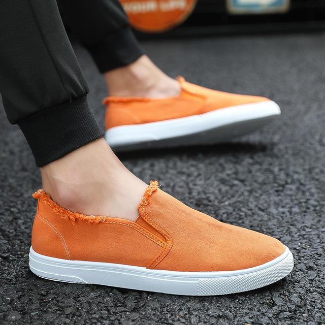 SJstudio Selvedge Design Comfortable Canvas Shoes For Men