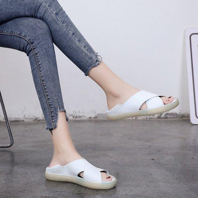 SJstudio Cross Band Design Comfortable Versatile Shoes For Women