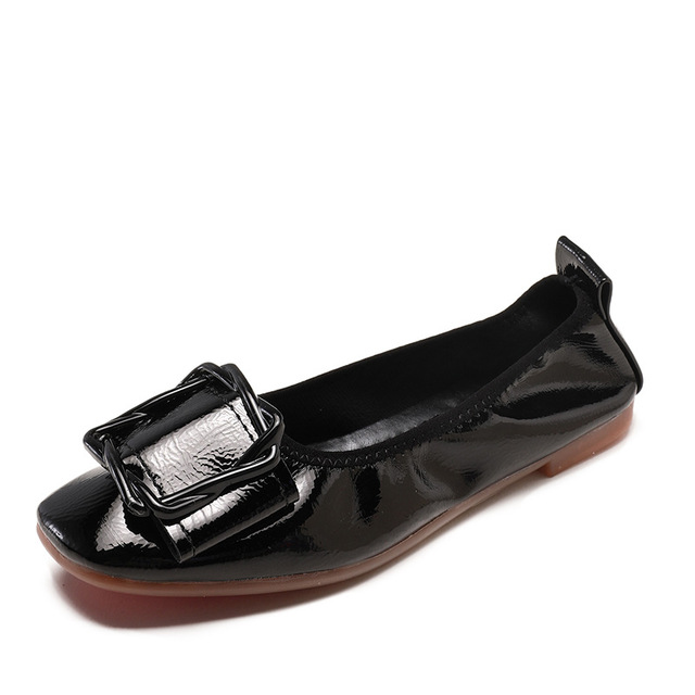 SJstudio Patent Leather Ultra-comfortable Flat Ballet Shoes For Women