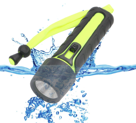 Black PC Multi-Purpose Underwater LED Flash Light with Different Brightness Modes