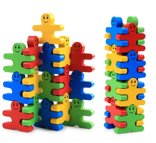 Wooden Cartoon Balancing Puzzle Toy for Kids