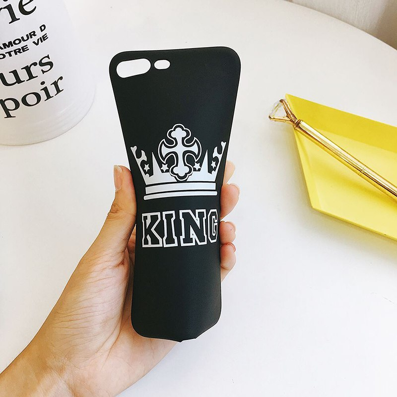 Black TPU King Crown Printed iPhone 8 Plus Back Cover