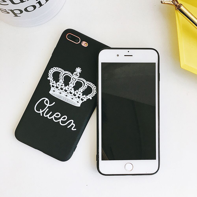 Black TPU Queen Patterned iPhone 8 Plus Back Cover