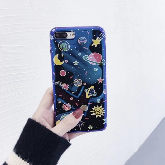 Blue Plastic Planets Printed iPhone 7 Plus Back Cover