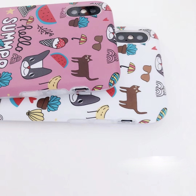 Plastic Cool Printed iPhone X Back Cover