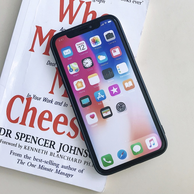 White Plastic Casual Printed iPhone X Back Cover