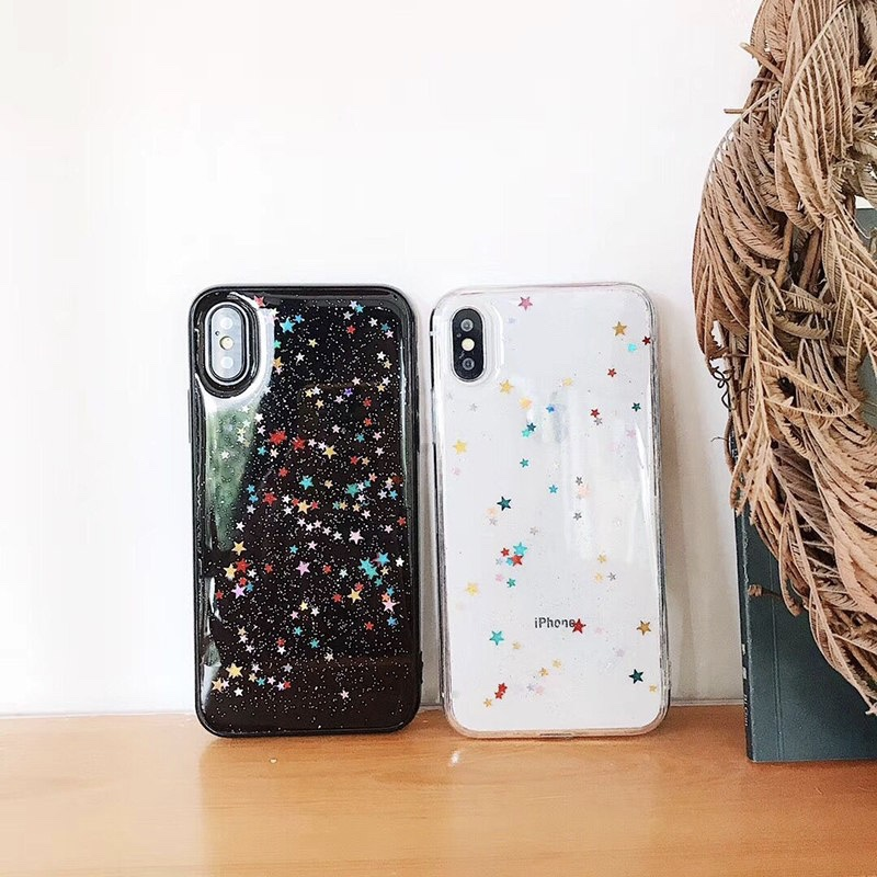 TPU Stars Patterned Cute iPhone X Back Cover