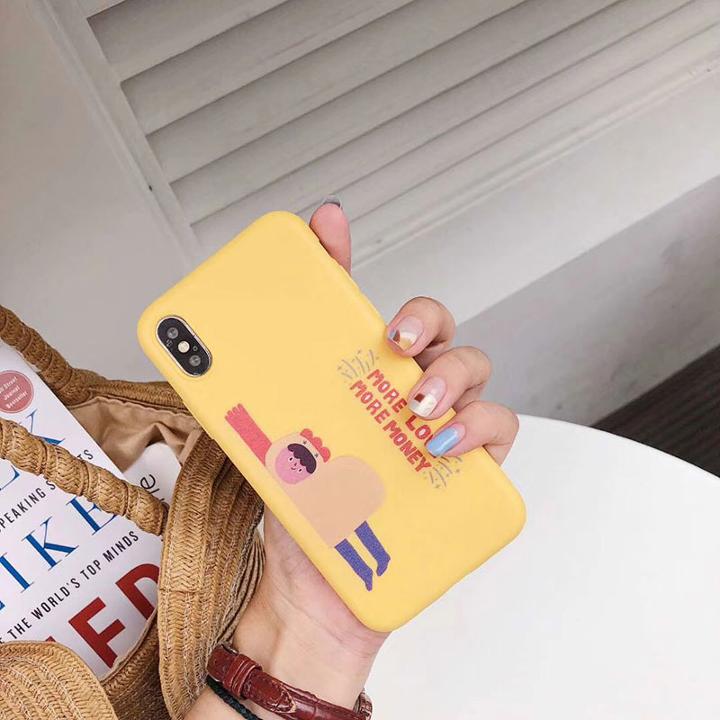 Yellow Plastic Cartoon Printed iPhone X Back Cover