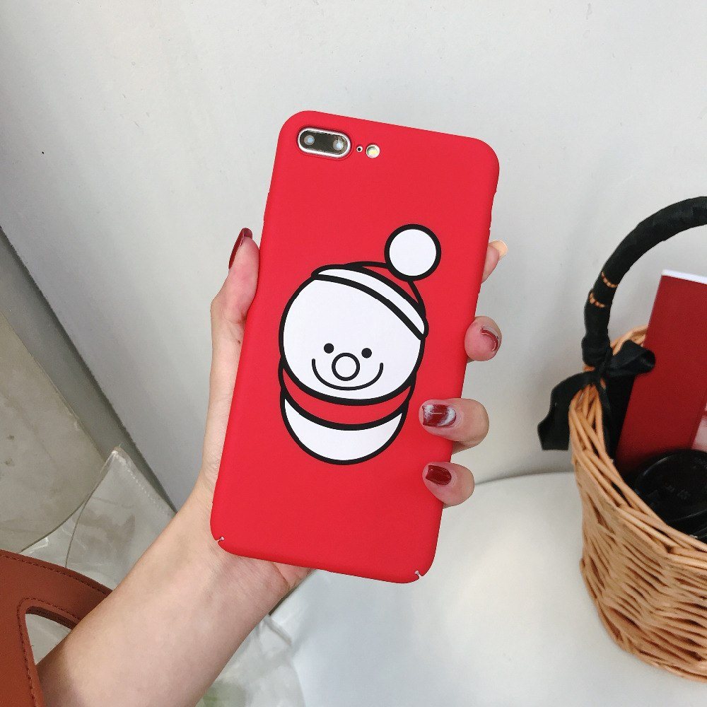 Red Plastic Snowman Printed iPhone 8 Plus Back Cover