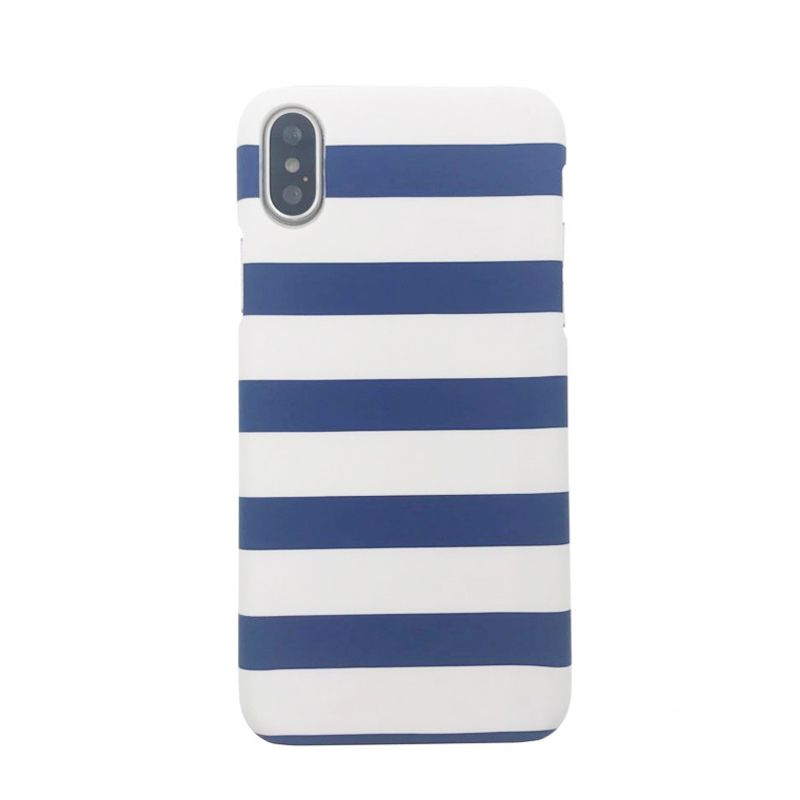 Plastic Horizontal Lines Printed iPhone X Back Cover