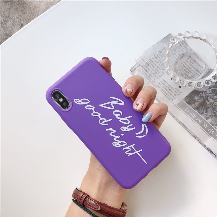 Purple Plastic Quote Printed iPhone X Back Cover