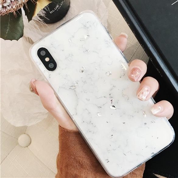 Plastic Crackle Sparkling Patterned iPhone X Back Cover