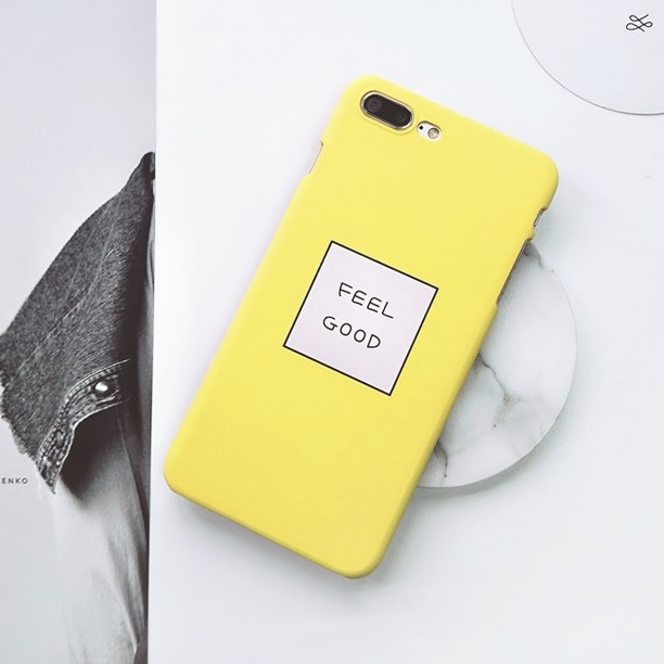Yellow Plastic Words Printed iPhone 7 Plus Back Cover