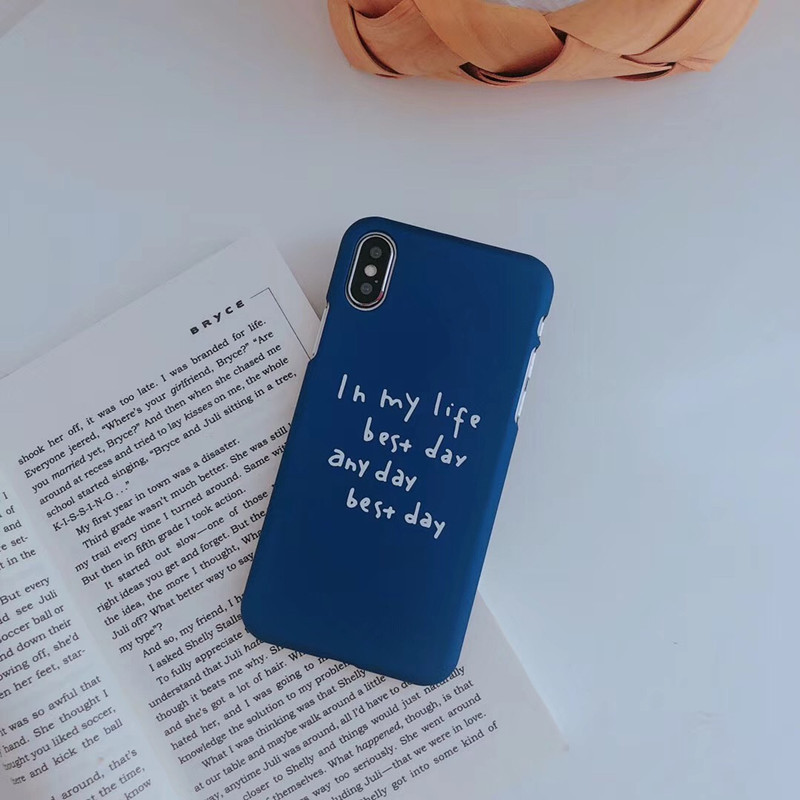 Blue Plastic Letters Printed iPhone X Back Cover