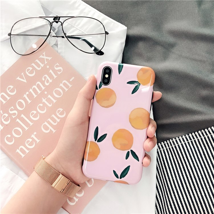 Plastic Fruits Printed iPhone X Back Cover