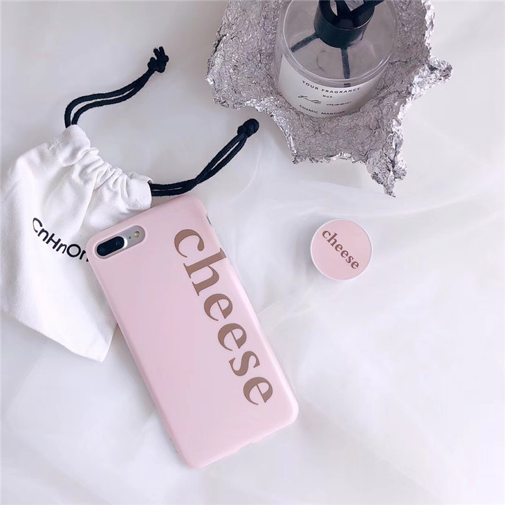 Pink Plastic Word Printed iPhone 8 Plus Back Cover