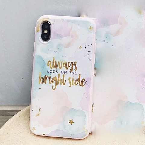 Plastic Printed Shaded iPhone X Back Cover