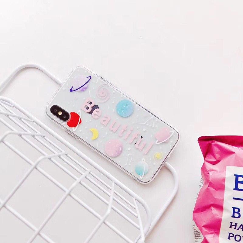 Transparent Plastic Beautiful Printed iPhone X Back Cover