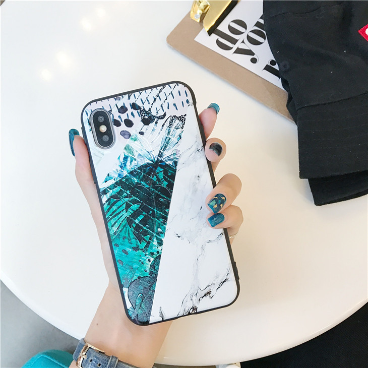 Multicoloured Plastic Leaves Printed iPhone X Back Cover