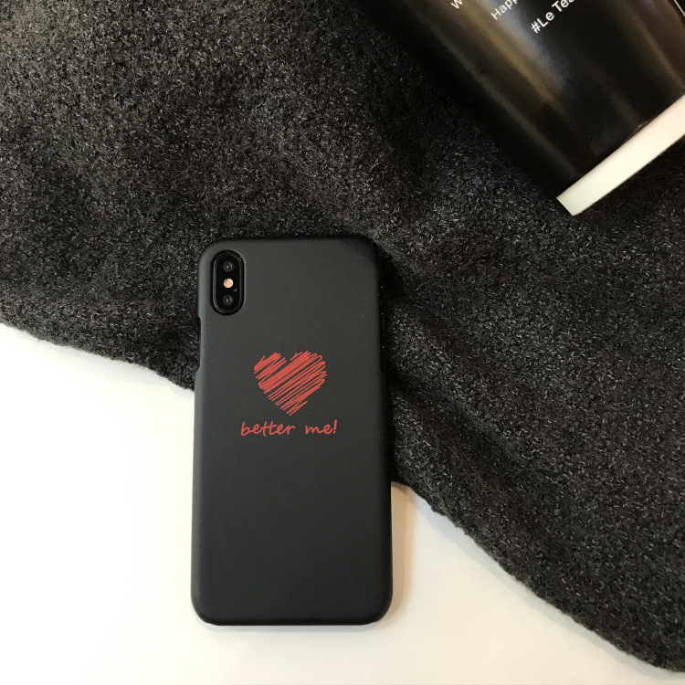 Plastic Heart Printed iPhone X Back Cover