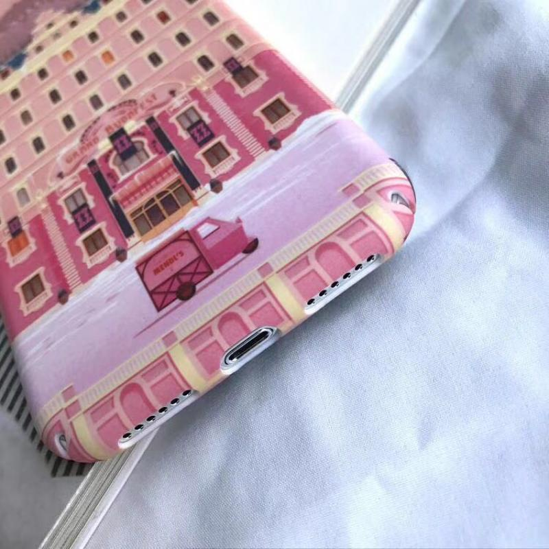PInk Plastic Building Printed iPhone X Back Cover