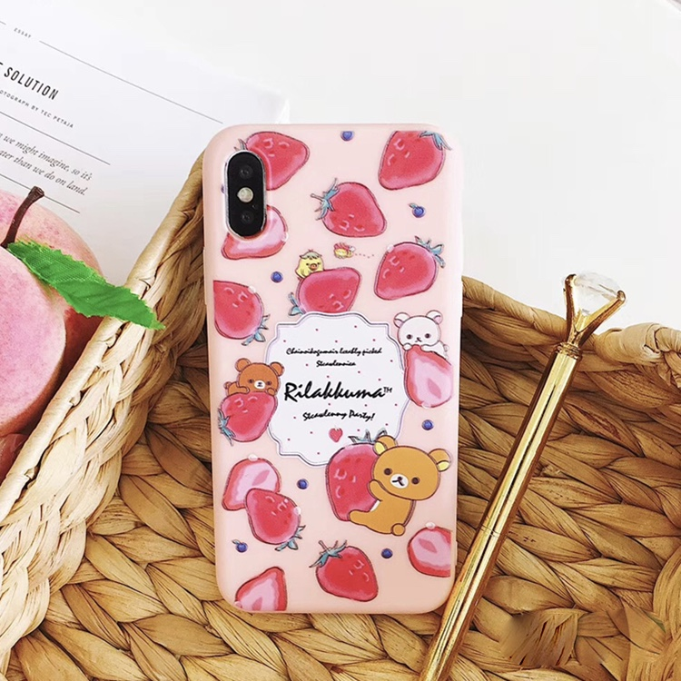 Pink Plastic Starberries Printed iPhone X Back Cover
