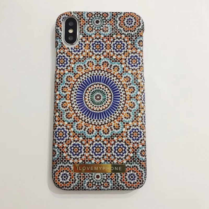 Multicoloured Plastic Ethnic Print iPhone X Back Cover
