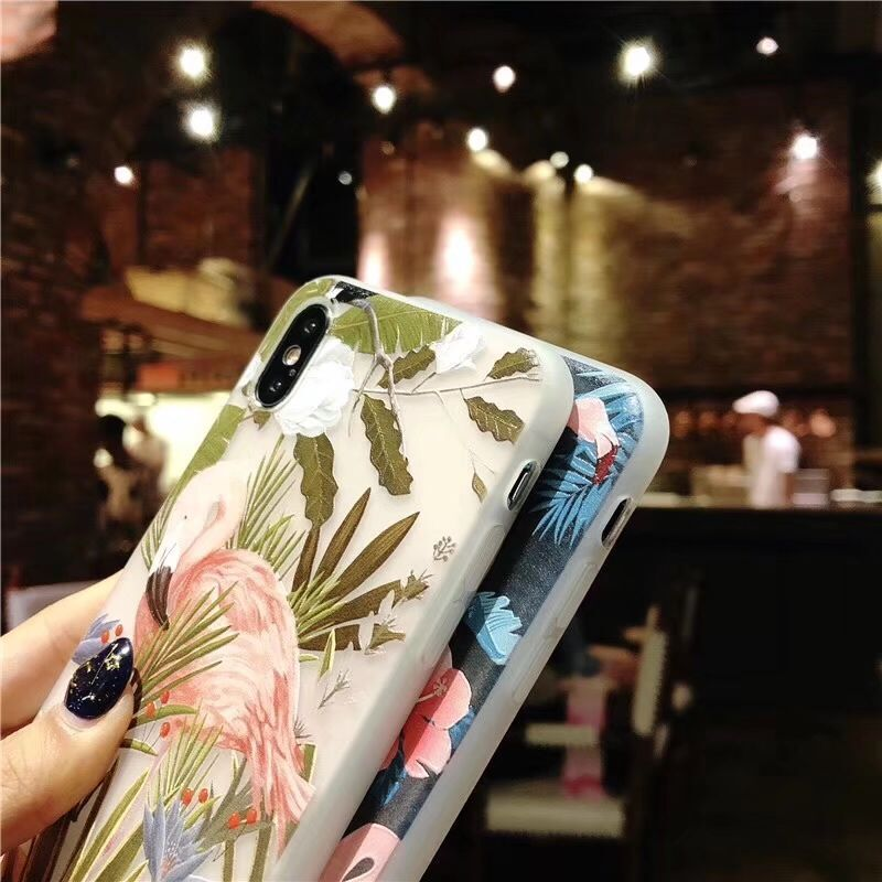 Plastic Ducks Leaves Patterned iPhone X Back Cover