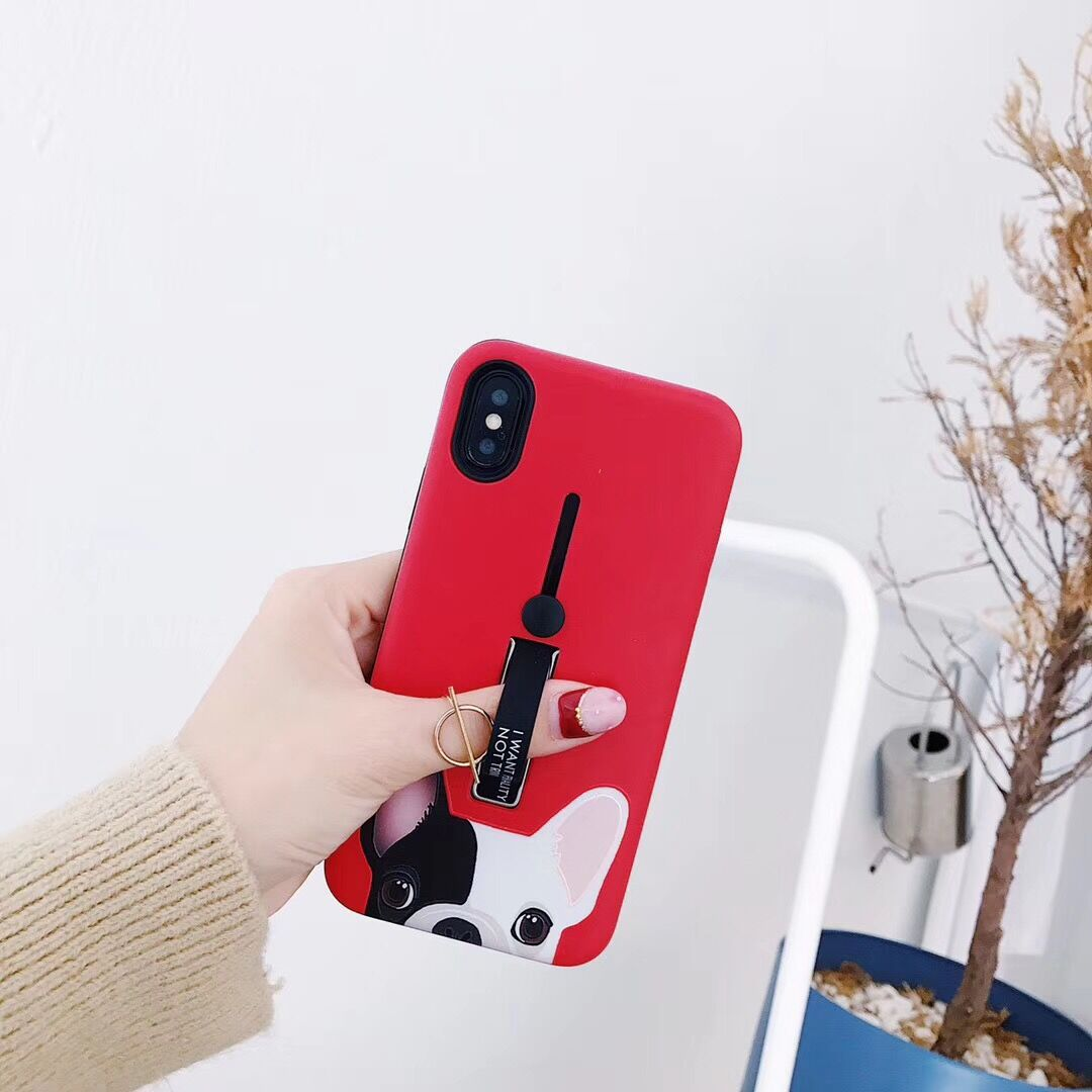 Plastic Cute Puppy Face Printed iPhone X Back Cover