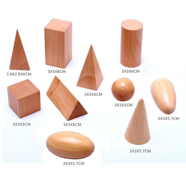 Wooden Geometric Shapes Learning Toy for Kids