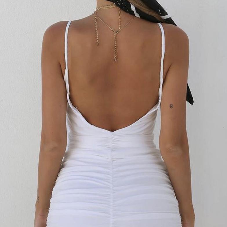 Polyester Front Waist Split Slim Fit Casual Women Dress