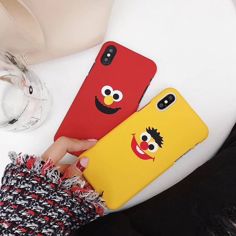 Plastic Cartoon Face Printed iPhone X Back Cover
