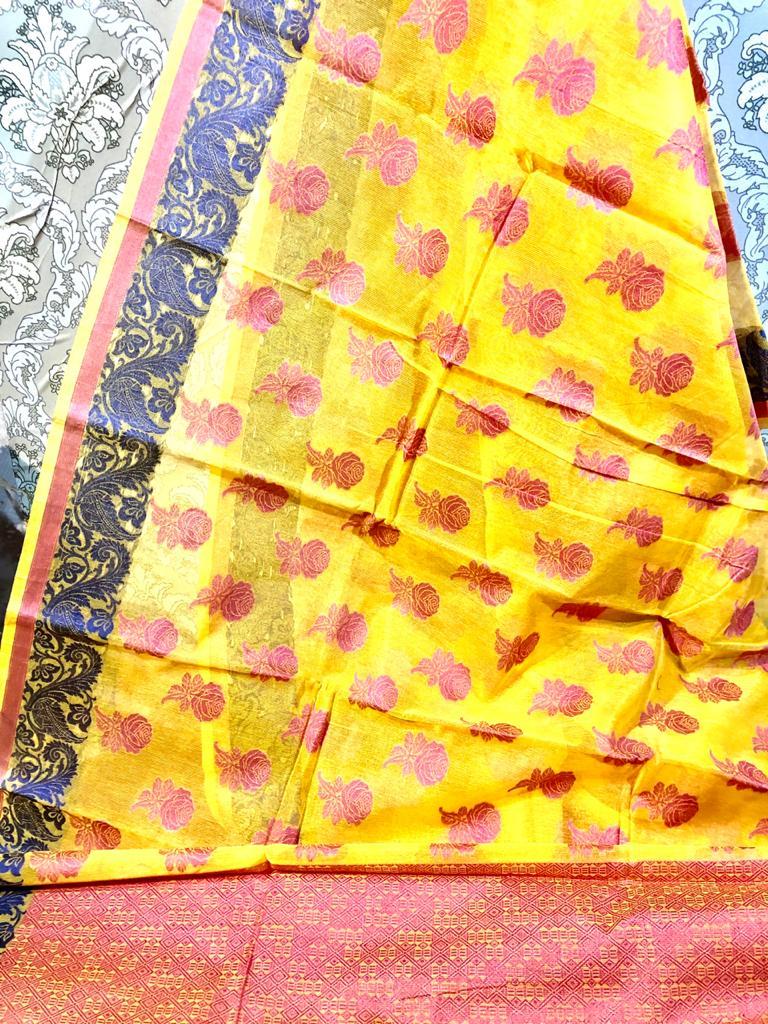Banarsi cotton art sarees